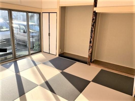 市松模様に彩った琉球畳!モダンな雰囲気を演出!